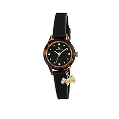 Radley - Ladies 'Tortoise' with gold black silicone strap watch ry2324