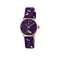 Radley - Ladies purple 'Meadow' printed strap watch ry2340