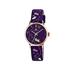 Radley - Ladies purple 'Meadow' printed strap watch