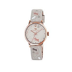 Radley - Ladies cream 'Meadow' printed strap watch
