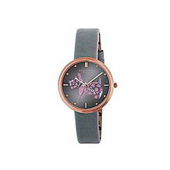 Radley - Ladies 'Rosemary gardens thunder' leather strap watch