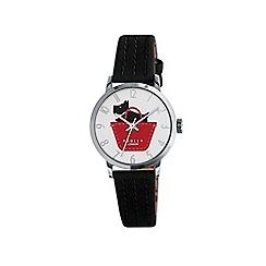 Radley - Ladies black 'Border' leather strap watch