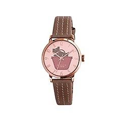 Radley - Ladies dusky pink 'Border' leather strap watch