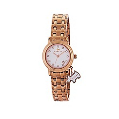 Radley - Ladies rose gold 'Euston' link bracelet watch