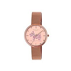 Radley - Ladies rose gold 'Rosemary gardens' mesh bracelet watch