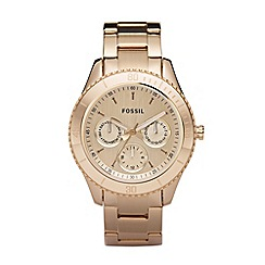Fossil - Ladies gold mock-chronograph dial watch