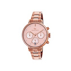 Radley - Ladies rose gold 'Battersea' chronograph bracelet watch