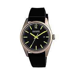 Kahuna - Gents black strap watch
