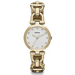 Fossil - Ladies silver diamante case watch