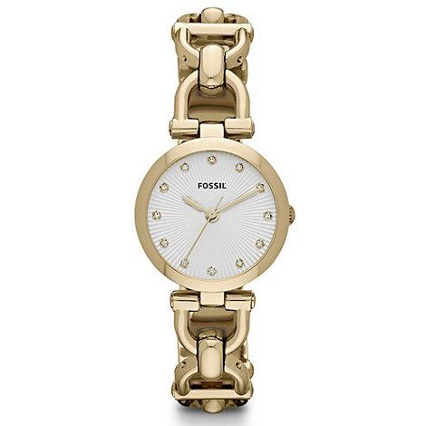 Fossil - Ladies silver diamante case watch