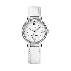 Tommy Hilfiger - Ladies 'Lynn' watch with white leather strap
