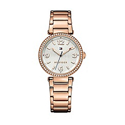 Tommy Hilfiger - Ladies rose gold bracelet 'Lynn' watch with crystal bazel