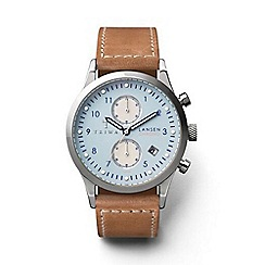Triwa - Unisex watch with pale blue multi dial and tan leather strap