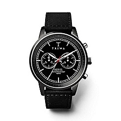 Triwa - Unisex watch with black multi dial and black leather strap nest111sc010112