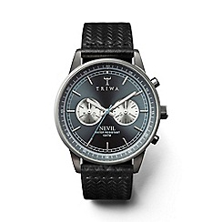 Triwa - Unisex watch with ash multi dial and black leather strap nest110gc010112