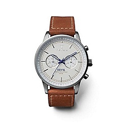 Triwa - Unisex watch with nude multi dial and brown leather strap