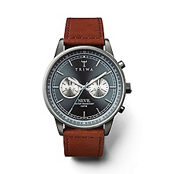 Triwa - Unisex watch with ash sunray dial and brown leather strap