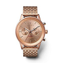 Triwa - Unisex watch with rose gold multi dial and rose gold stainless steel bracelet nest106br021414
