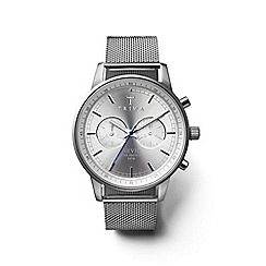 Triwa - Unisex watch with silver multi dial and silver steel mesh bracelet