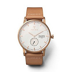 Triwa - Unisex watch with white multi dial with rose gold plating and nude leather strap