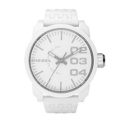 Diesel - Men's white oversized dial bracelet watch