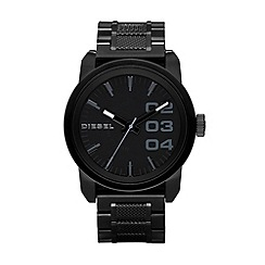 Diesel - Men's black textured bracelet watch