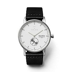 Triwa - Unisex watch with white dial and black leather strap