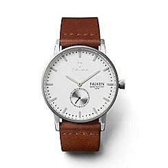 Triwa - Unisex watch with white dial and brown leather strap fast103cl010212