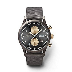 Triwa - Unisex watch with grey multi dial and grey leather strap