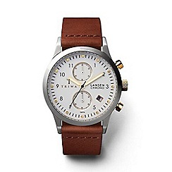 Triwa - Unisex watch with white multi dial and brown leather strap
