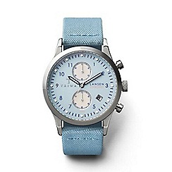 Triwa - Unisex watch with pale blue multi dial and blue leather strap