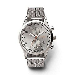 Triwa - Unisex watch with grey multi dial and silver steel mesh bracelet