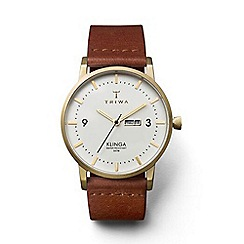 Triwa - Unisex watch with white dial and brown leather strap klst103cl010213