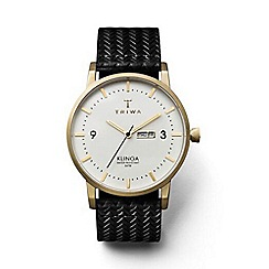 Triwa - Unisex watch with white dial and black leather strap klst103gc010113