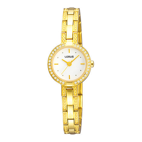 Lorus - Ladies gold round dial bracelet watch