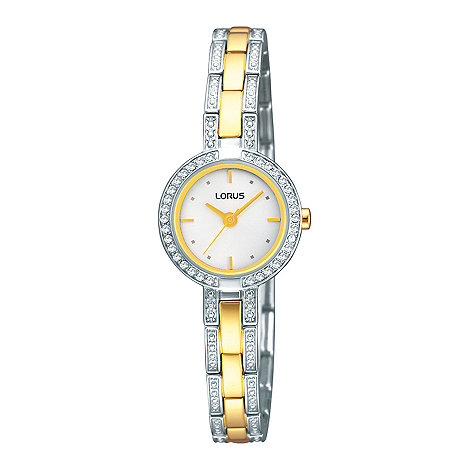 Lorus - Ladies silver two tone round dial watch