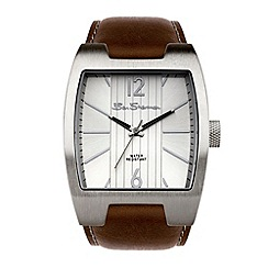 Ben Sherman - Men's brown leather strap watch