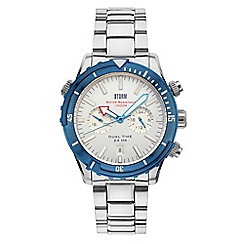 STORM - Men's silver 'Aqua-pro' divers watch