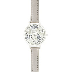 Mantaray - Ladies grey floral face watch