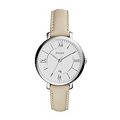 Fossil - Ladies white 'Jacqueline' 3-hand watch