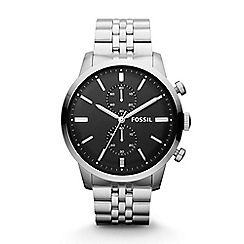 Fossil - Gents stainless steel 'Townsman' chronograph watch