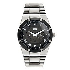 STORM - Men's silver round dial bracelet watch
