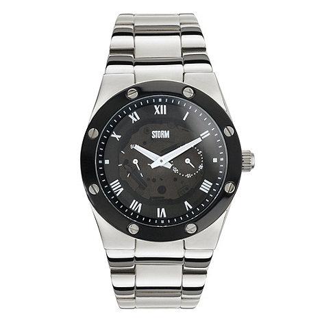 STORM London - Men+s silver round dial bracelet watch