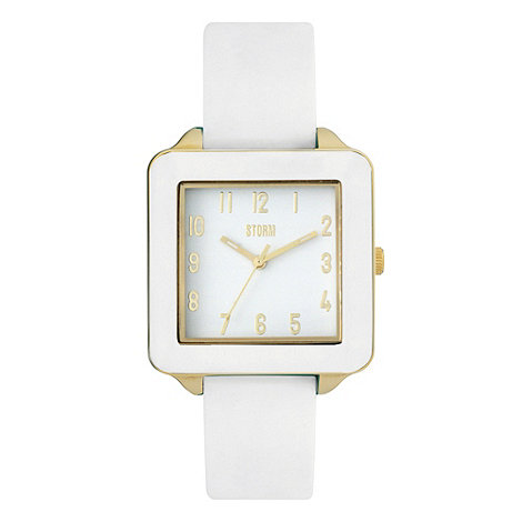 STORM London - Ladies white square dial wrist watch