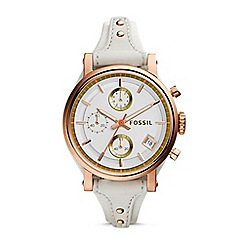 Fossil - Ladies white and rose original boyfriend watch