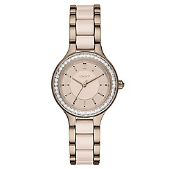 DKNY - Ladies Chambers two tone ceramic watch