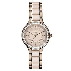 DKNY - Ladies Chambers two tone ceramic watch