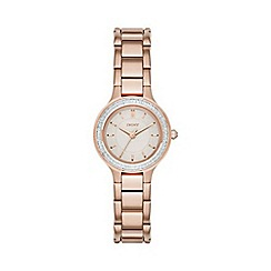DKNY - Ladies Chambers rose gold-tone bracelet watch