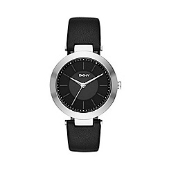 DKNY - Ladies Stanhope black strap watch