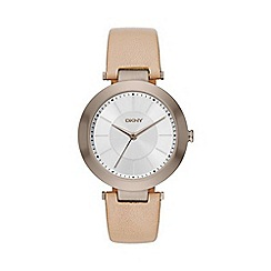 DKNY - Ladies Stanhope beige gold watch ny2459
